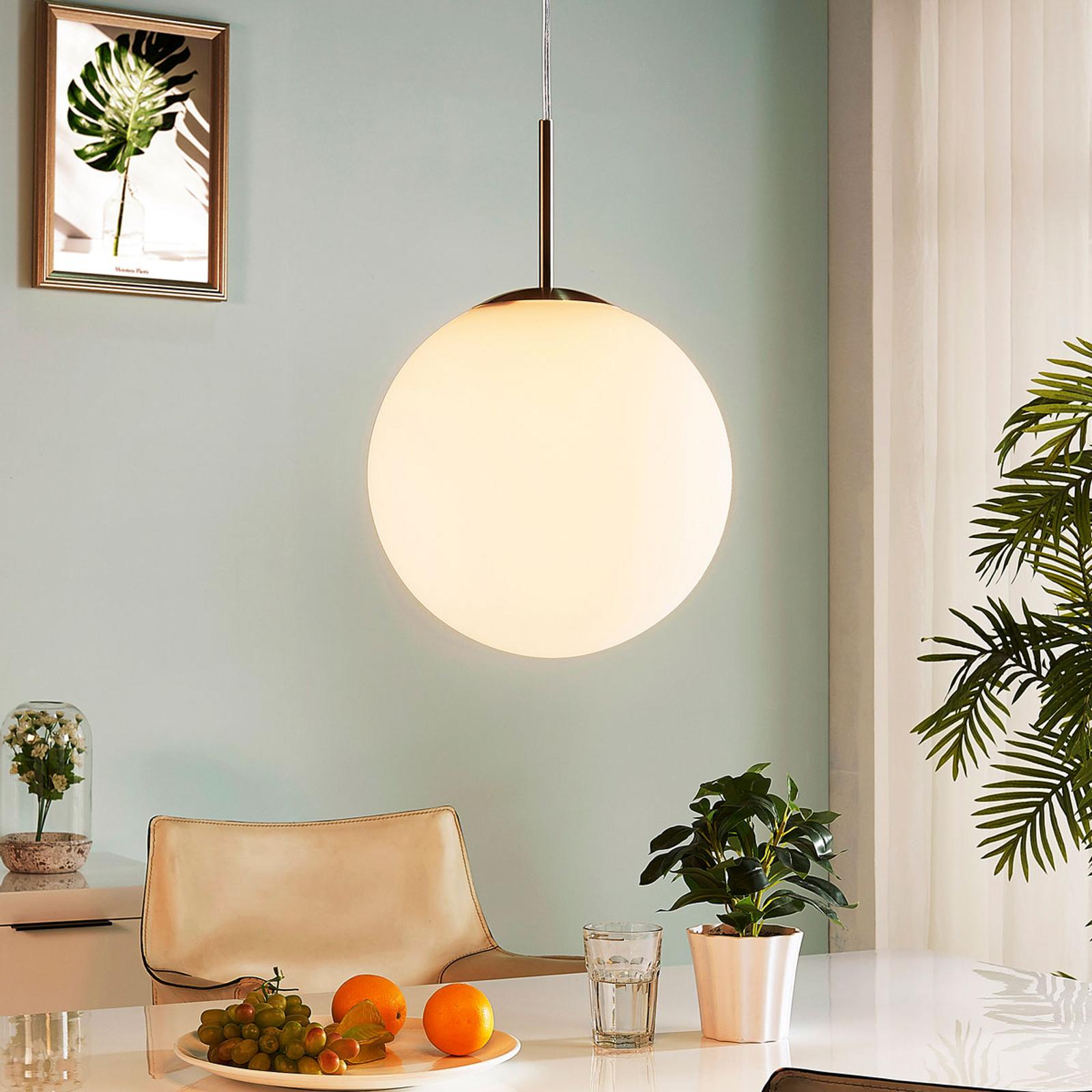 Lampa wisząca Marike, szkło opalowe, biała