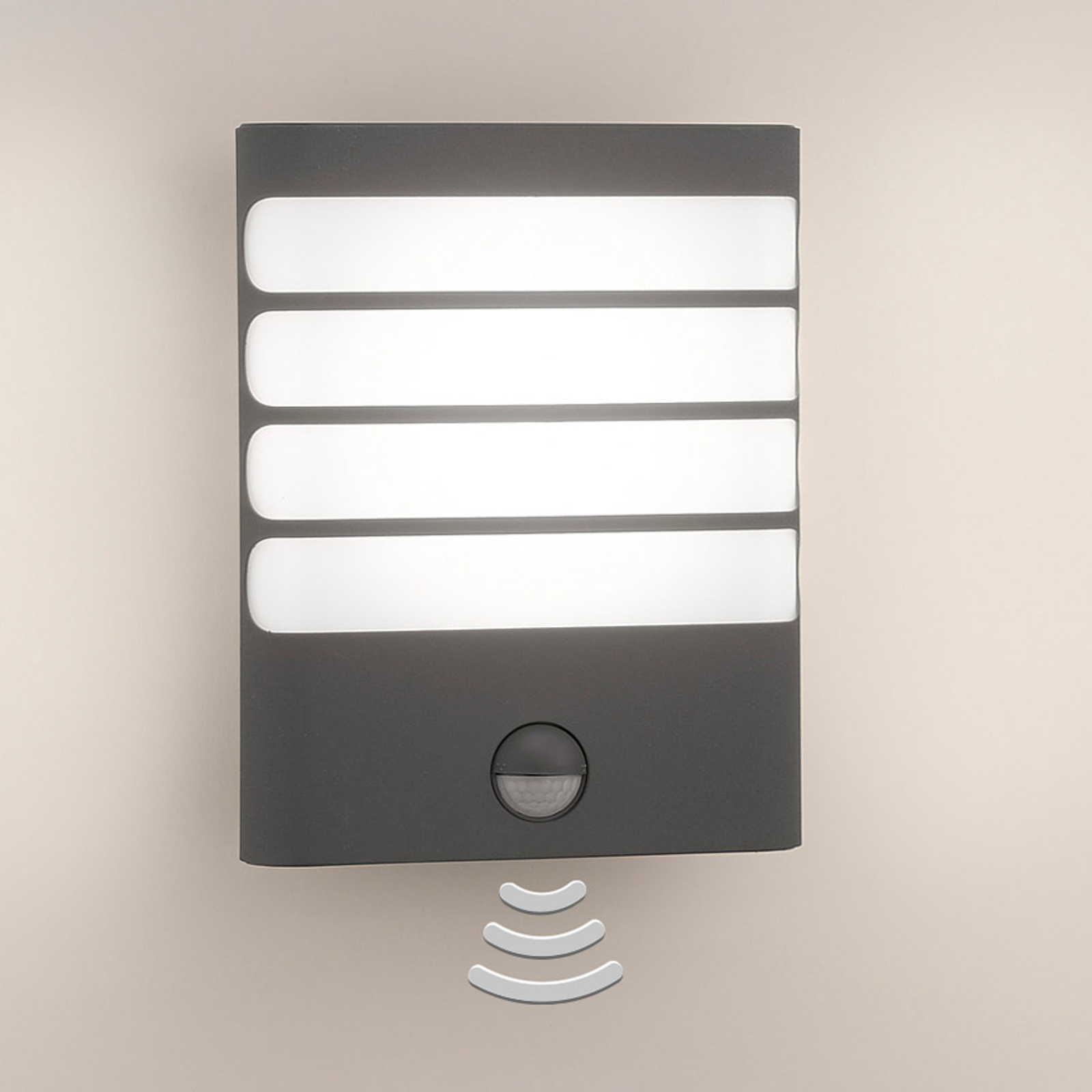 Philips Raccoon LED-væglampe antracit