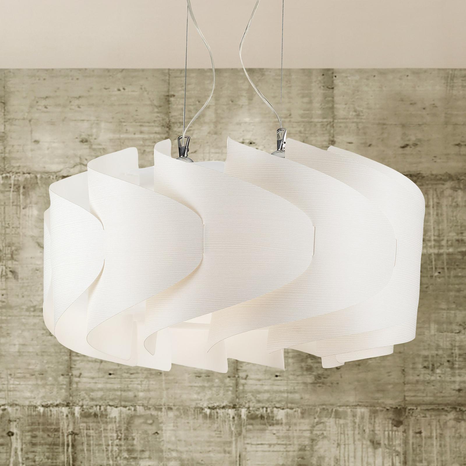 Hanglamp Ellix in witte houtoptiek