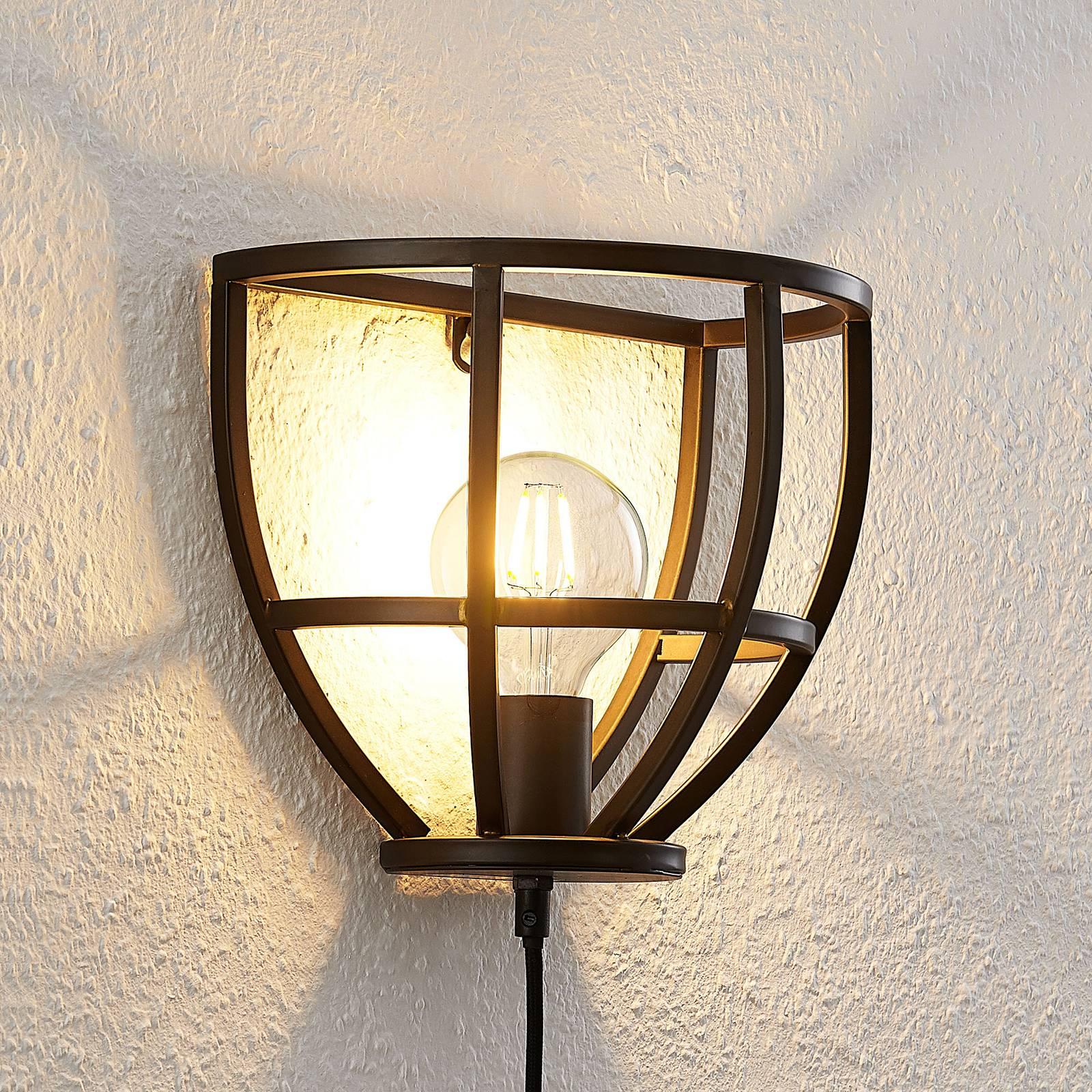 Lindby Rutger wandlamp met schakelaar en stekker