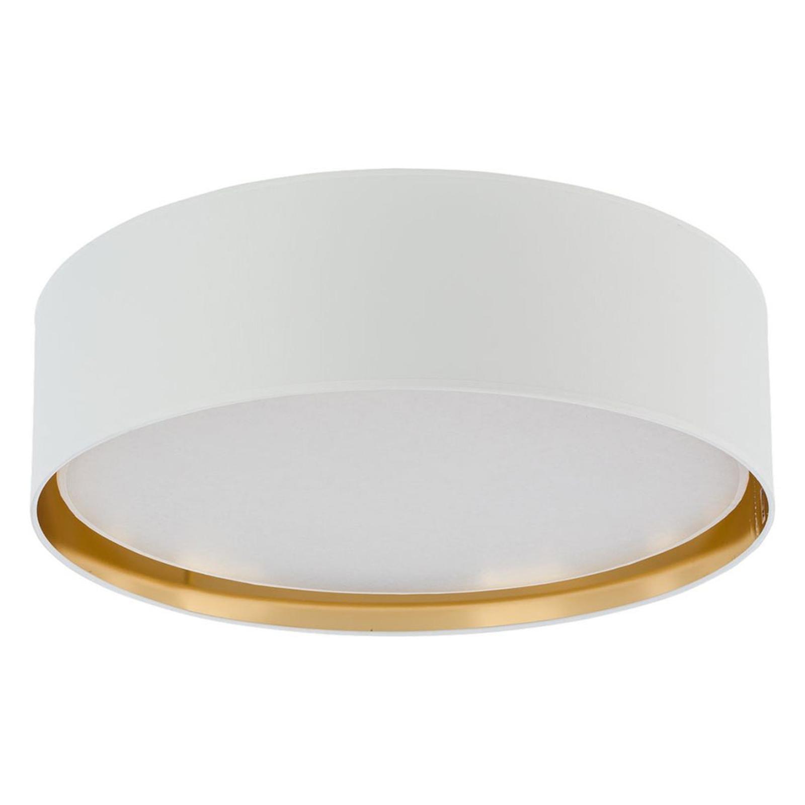 Plafondlamp Bilbao, Ø 60 cm, wit/goud