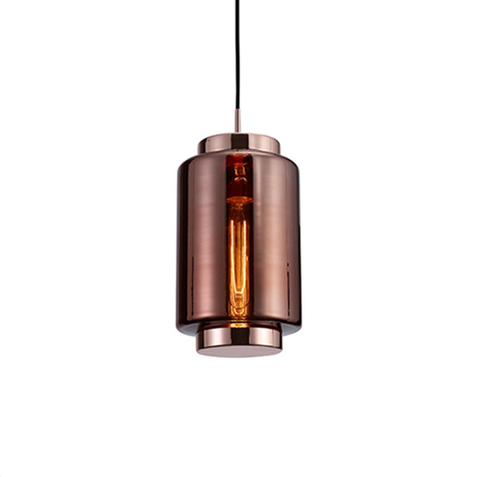 Lampa wisząca Jarras wysokość 34,5 cm, miedziana