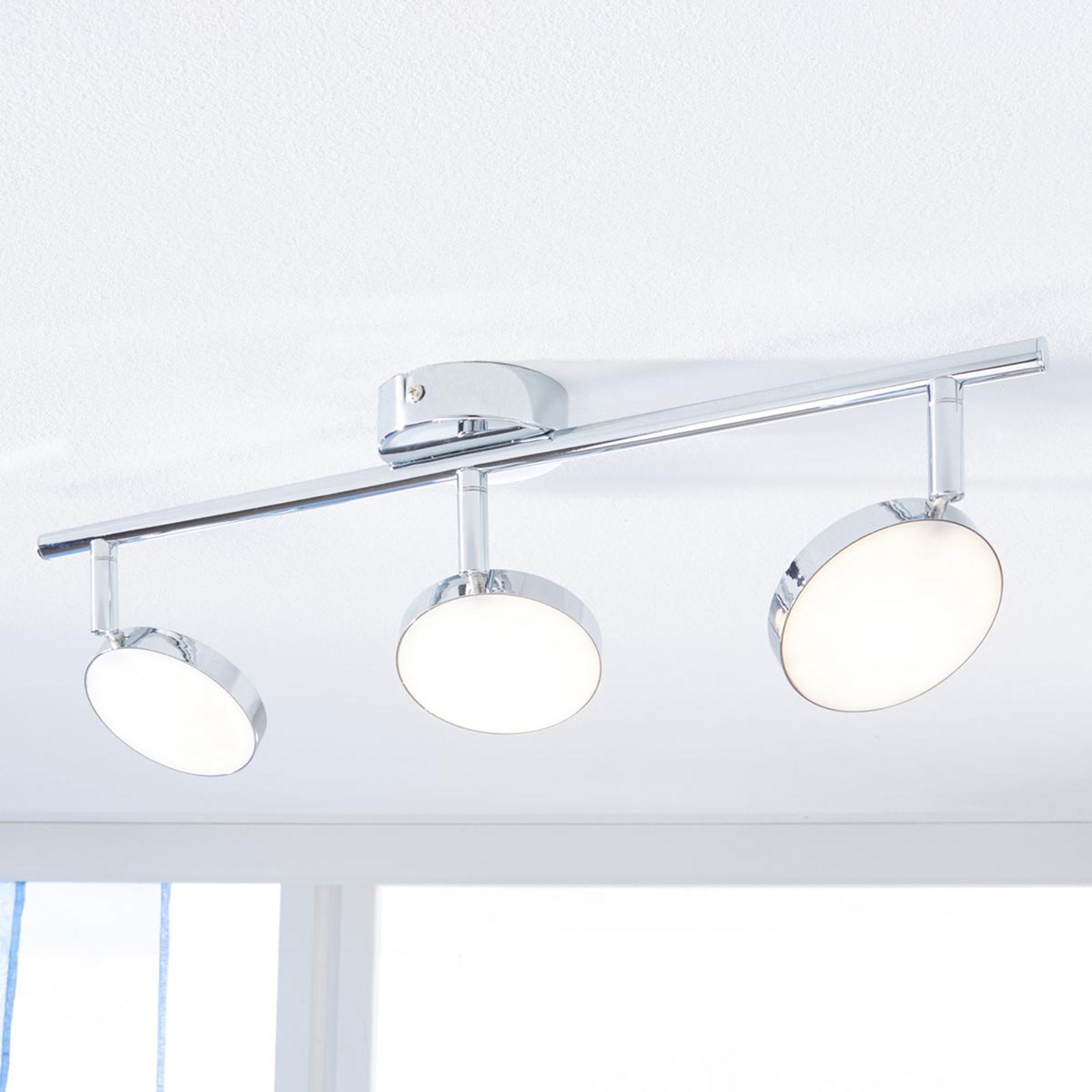LED-Deckenstrahler Keylan, 3-flammig, länglich