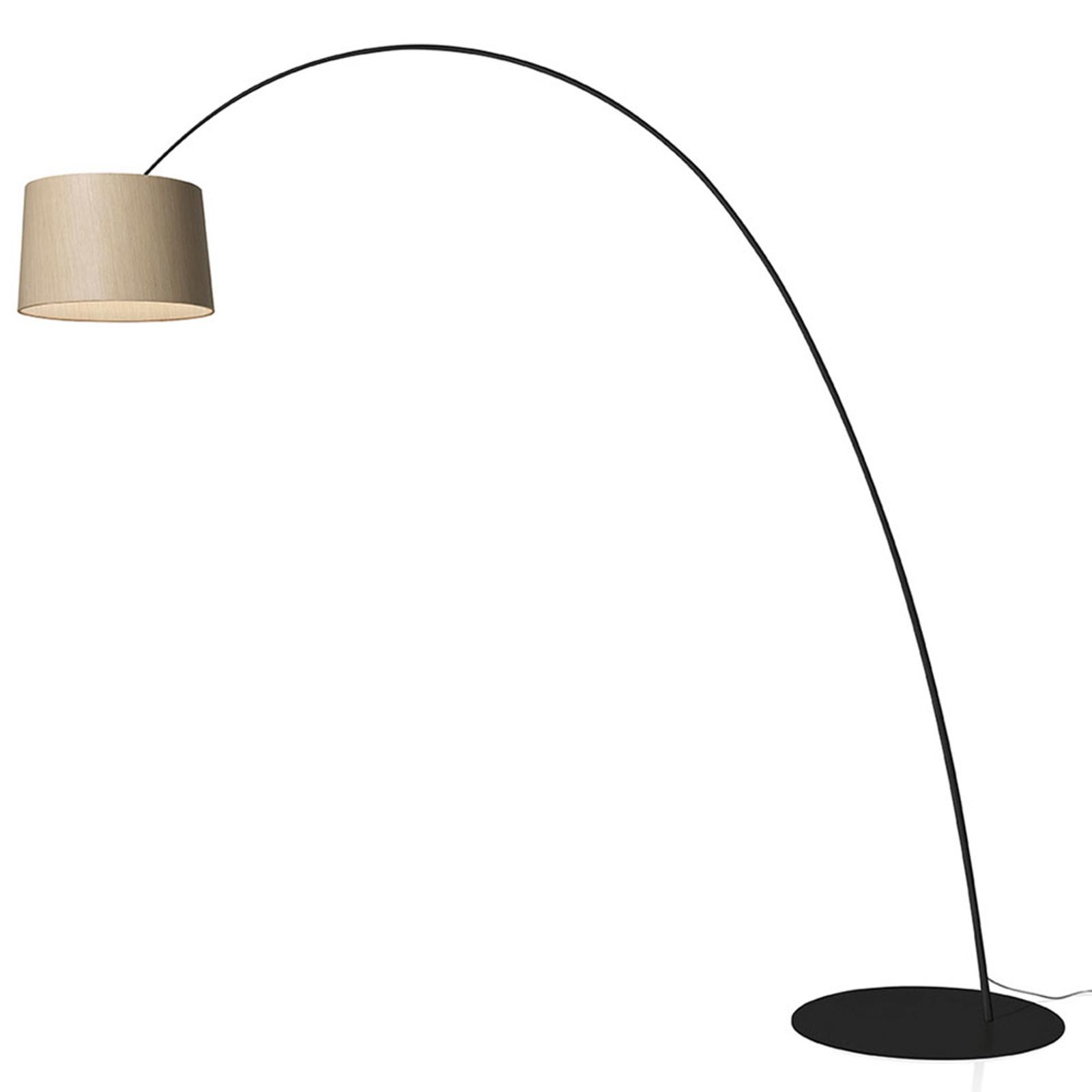 Foscarini Twiggy Wood MyLight lampadaire noir