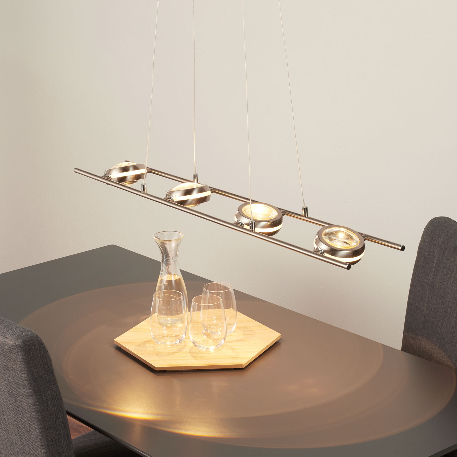 Lampa wisząca LED Samar, 8-punktowa