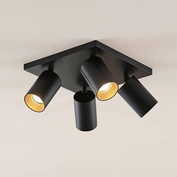 Spotlight Brinja, GU10, svart, 4 lampor