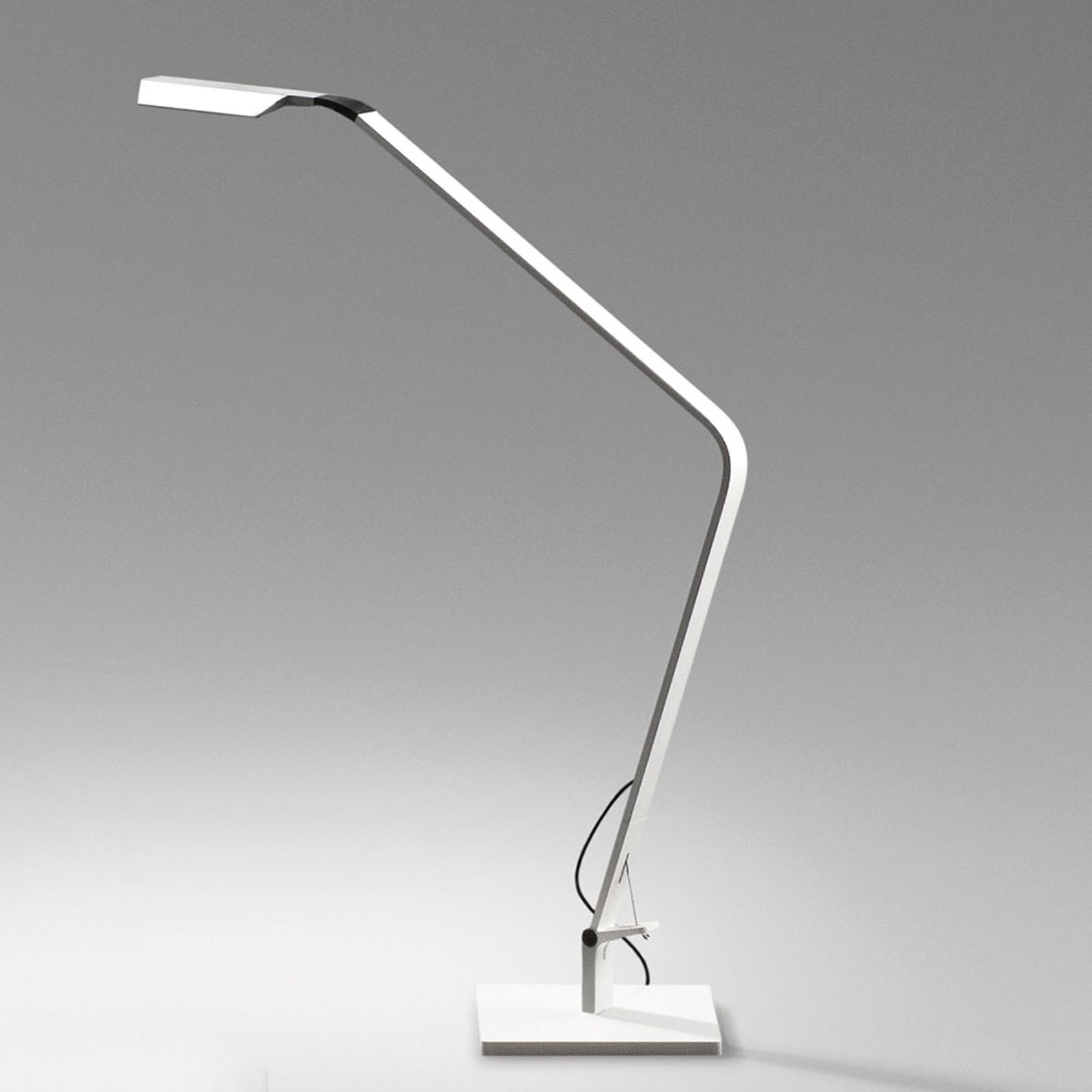 Lampe à poser LED Flex dimmable, blanc mat