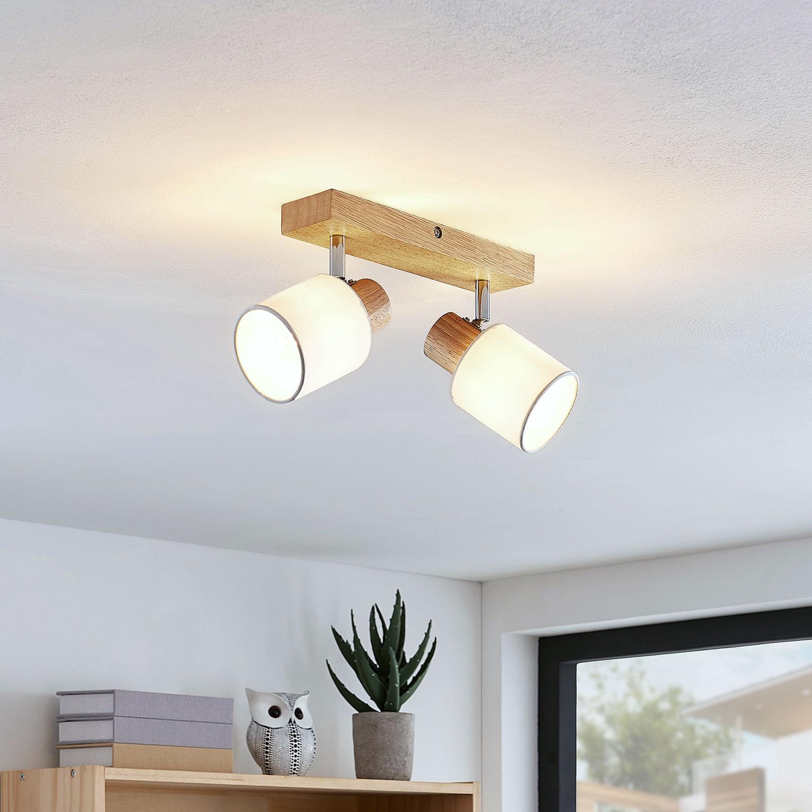 Lindby Wanessa spot pour plafond à 2 lampes