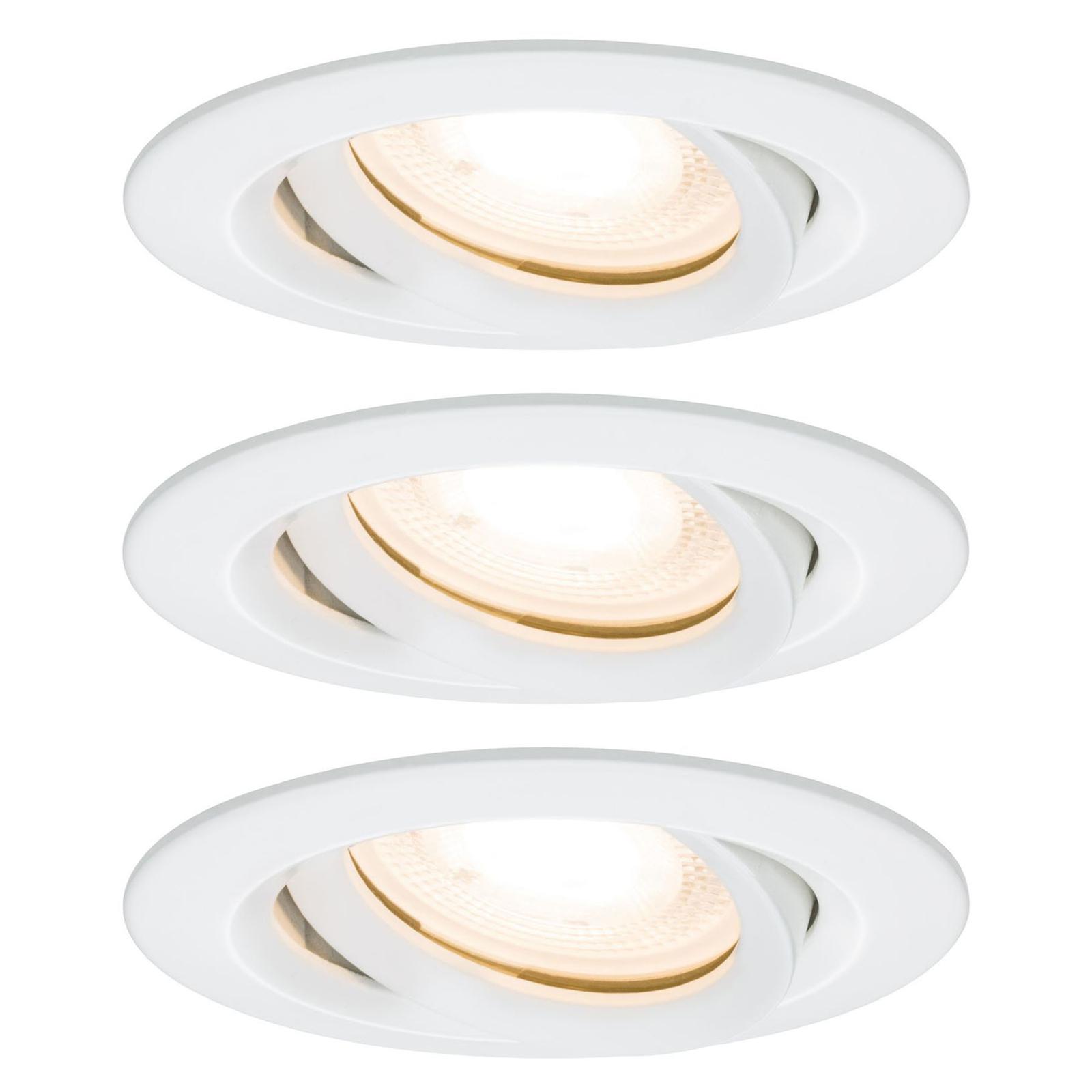 Paulmann Nova LED-inbyggnadsspot, dimbar, vit