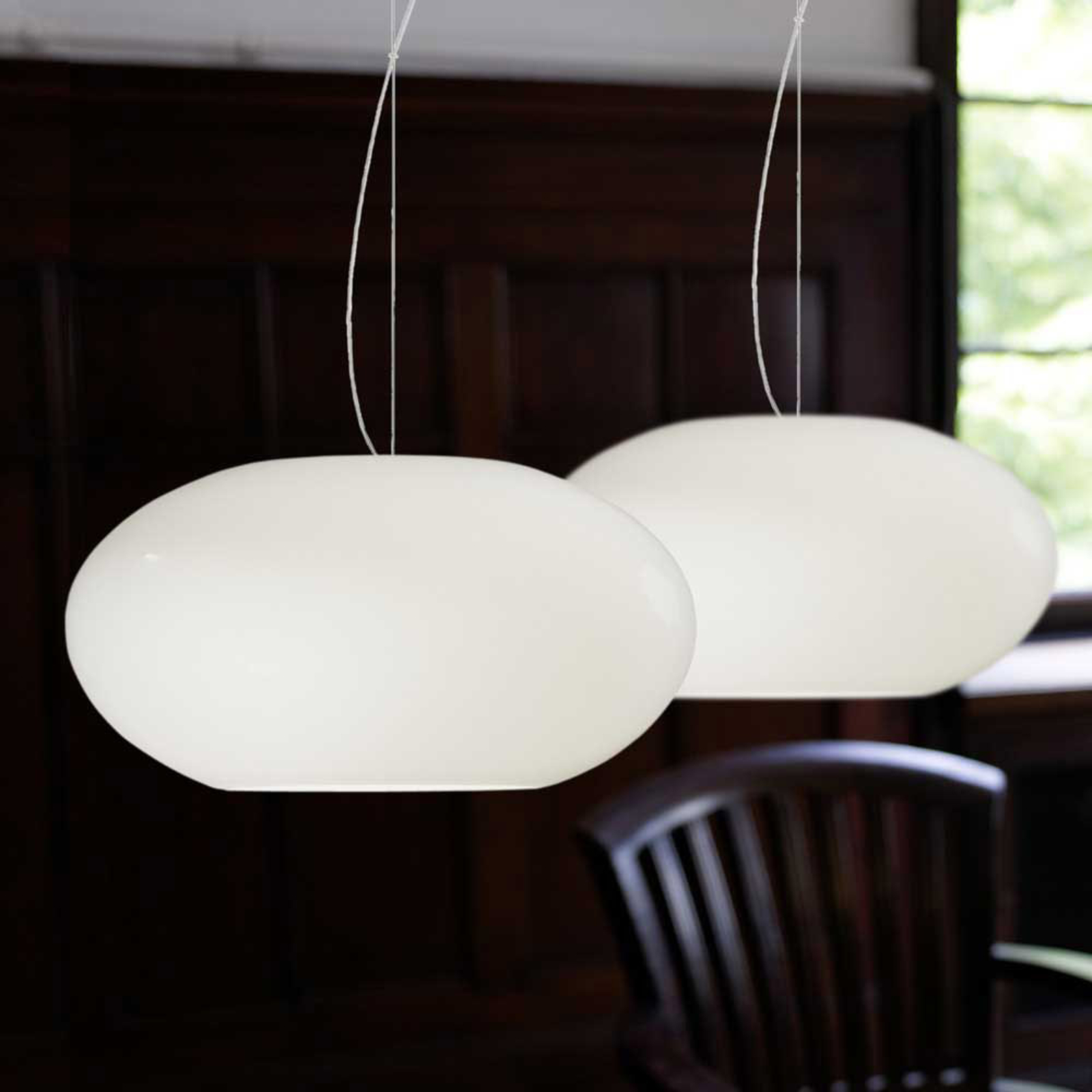 Lámpara colgante de diseño AIH 28 cm blanco brill.