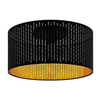 Plafondlamp Varillas in zwart/goud