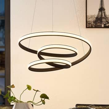 Lucande Sakina LED hanglamp zandzwart Ø 58cm