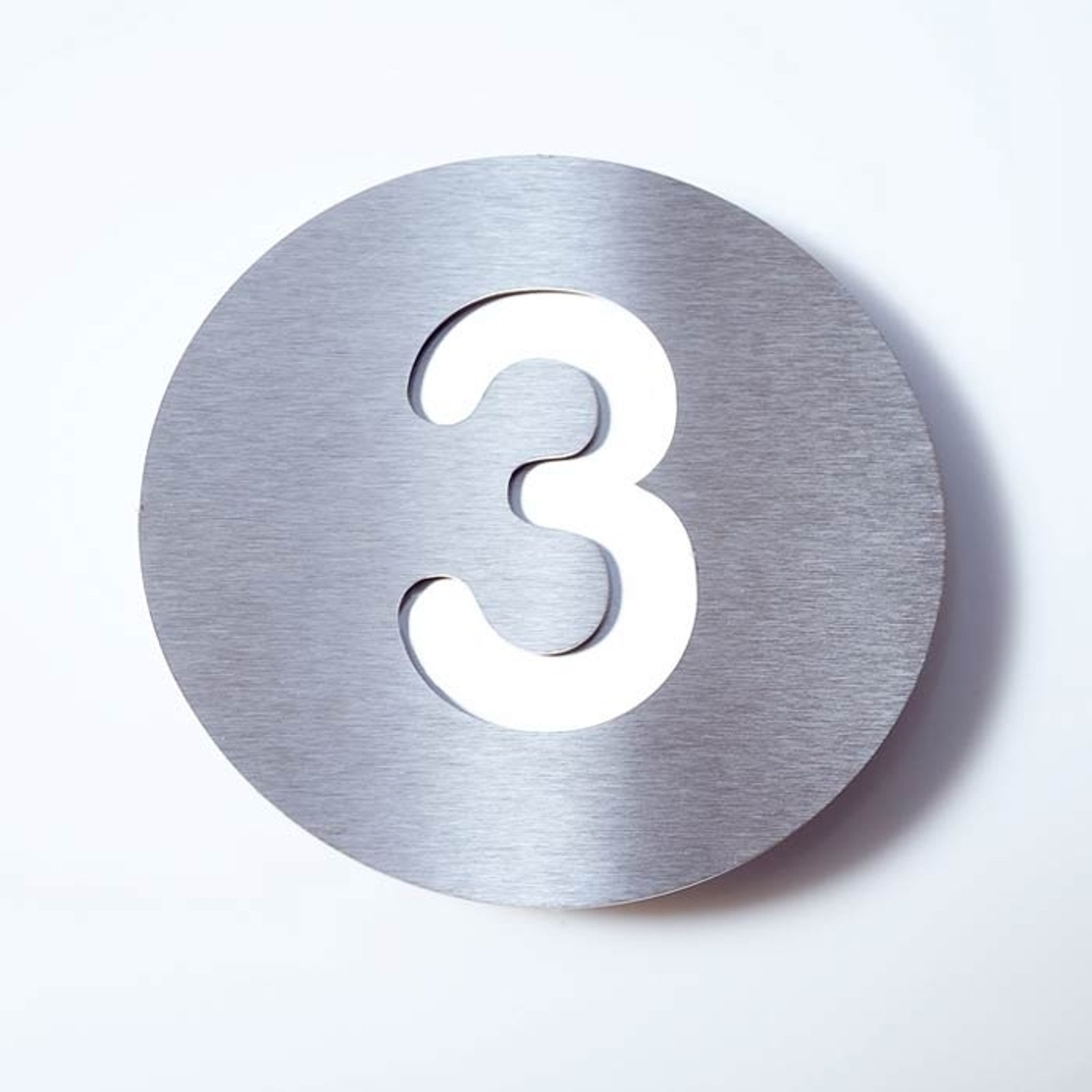 Stainless steel house number Round_1057081_1