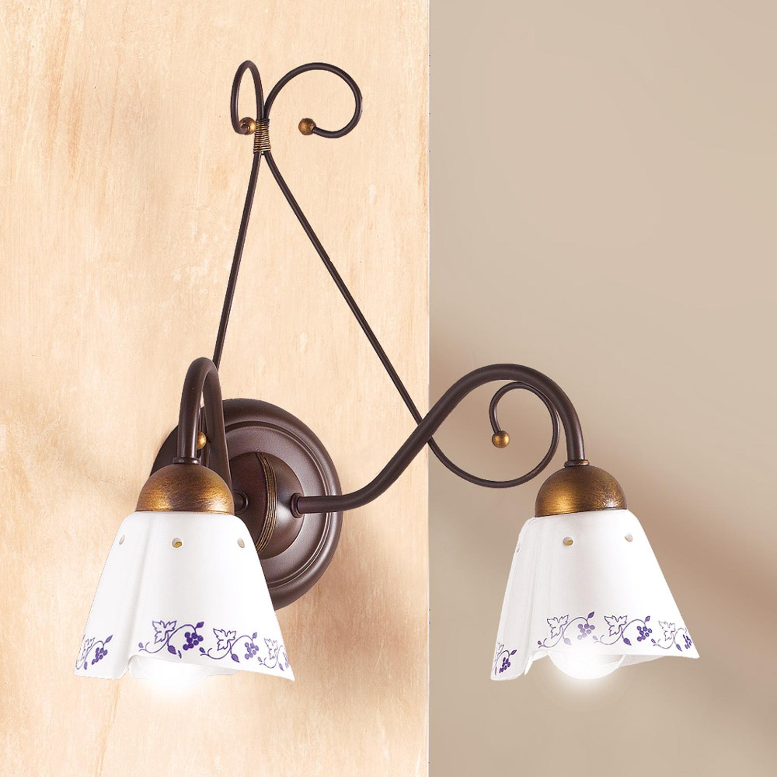 2 punktowa lampa ścienna CARTOCCIO