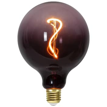 LED-Globe G125 E27 4W 2.000K schwarz/pink dimmbar