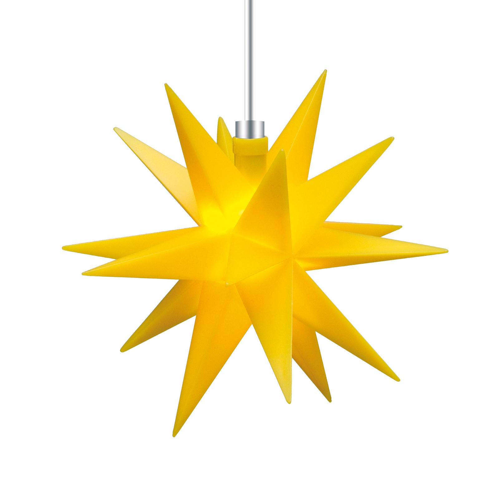 Pour l'intérieur - étoile 18 branches 12cm jaune