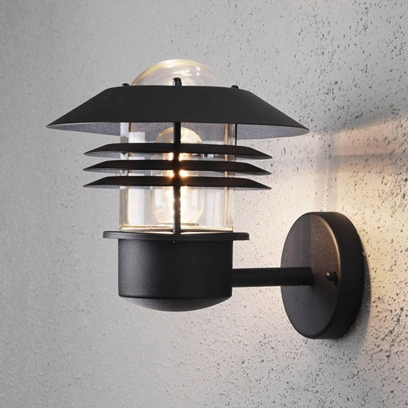 Buitenwandlamp New Modena, lantaarn, E27, zwart
