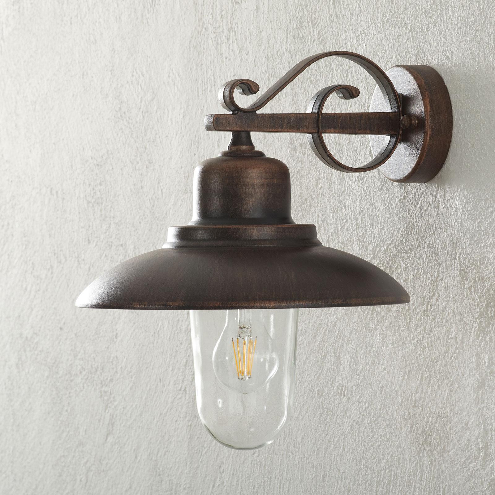 Buitenwandlamp 4101, koper antiek