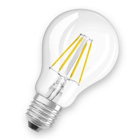 Bombilla LED E27 7W 827, transparente