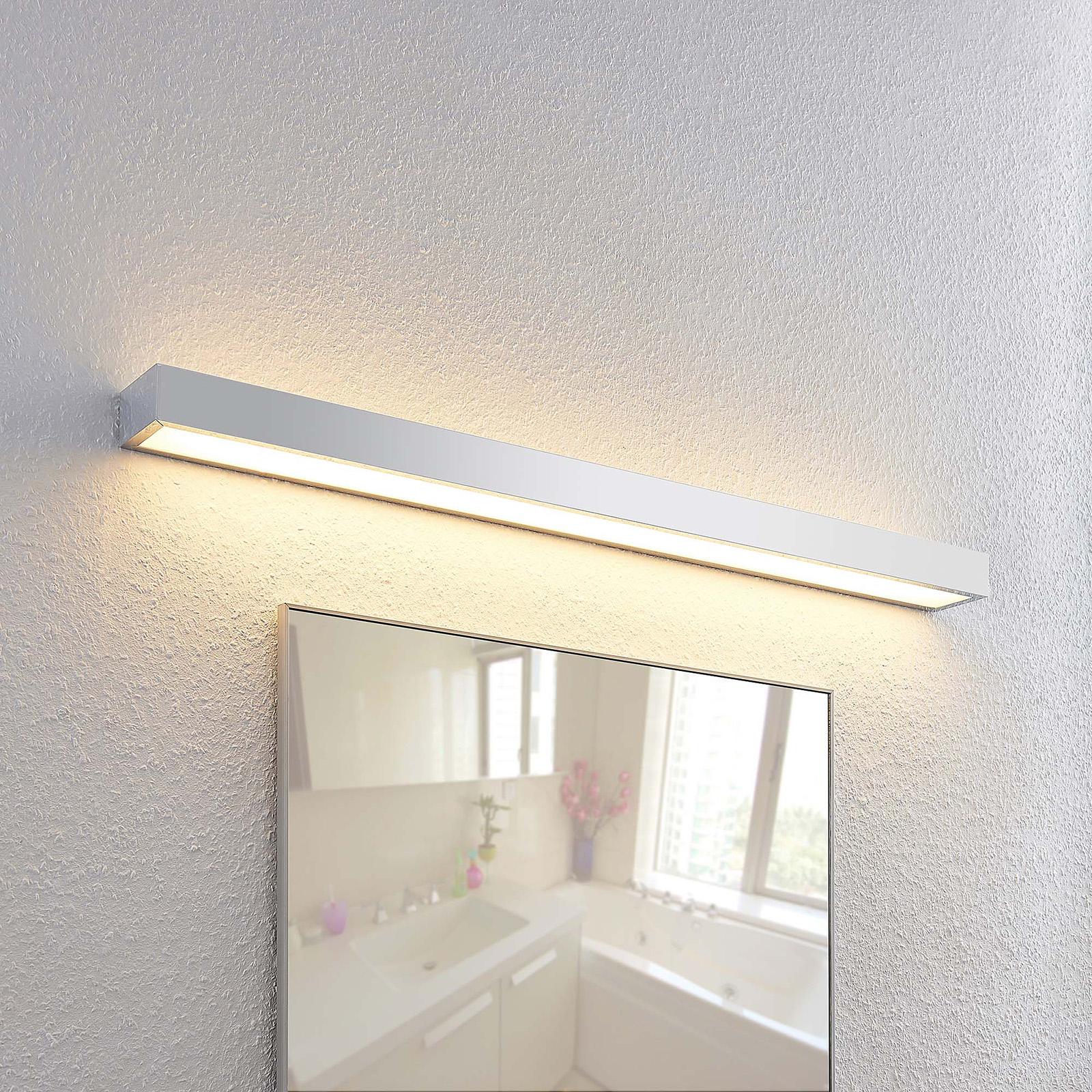 Lindby Layan LED-vegglampe til bad, krom, 90 cm