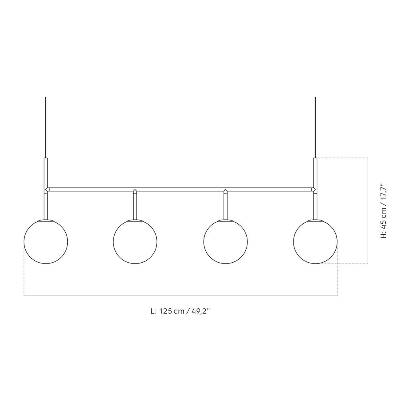Menu TR Bulb suspension LED 4 l. noire/opale mat