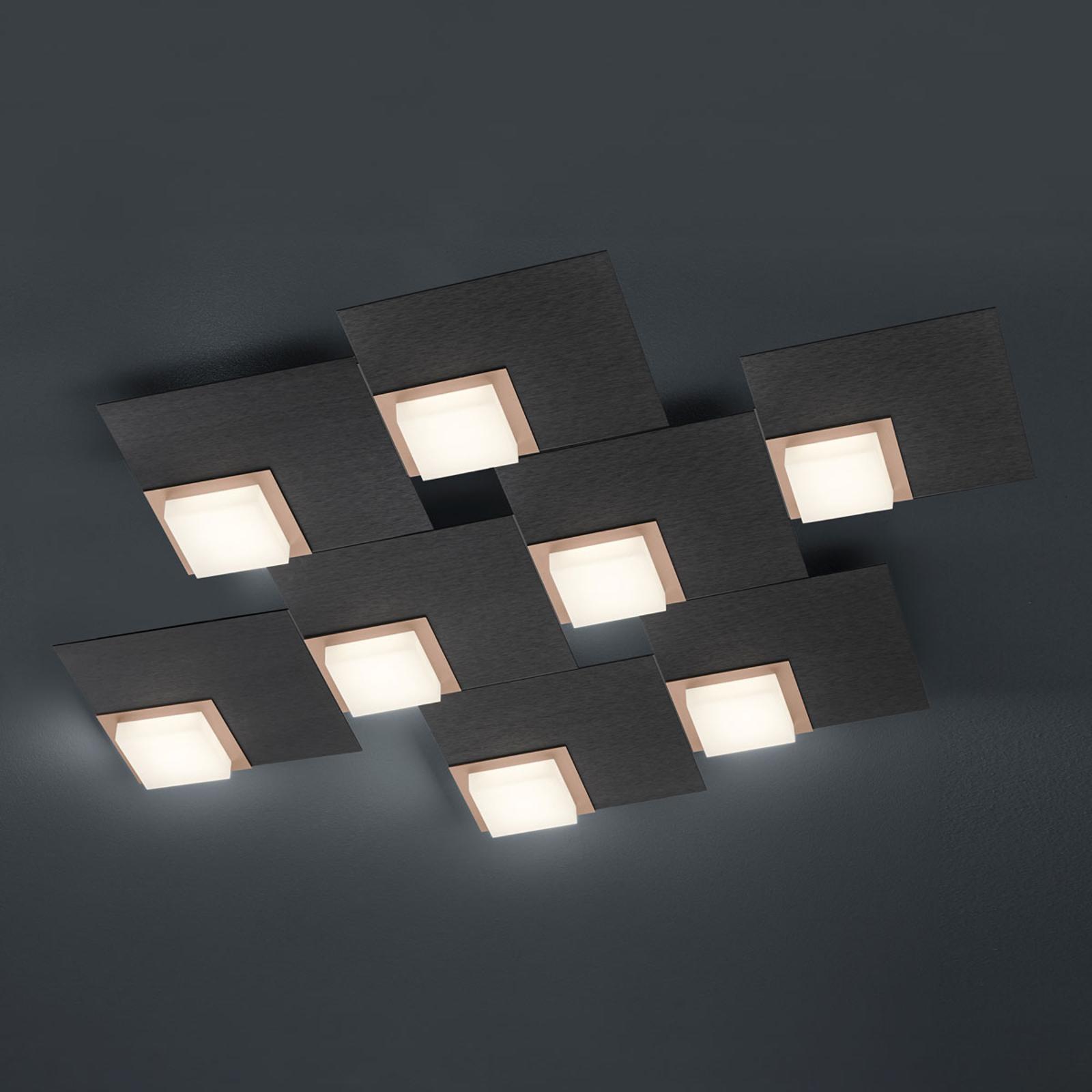 BANKAMP Quadro LED-plafondlamp 64 W antraciet