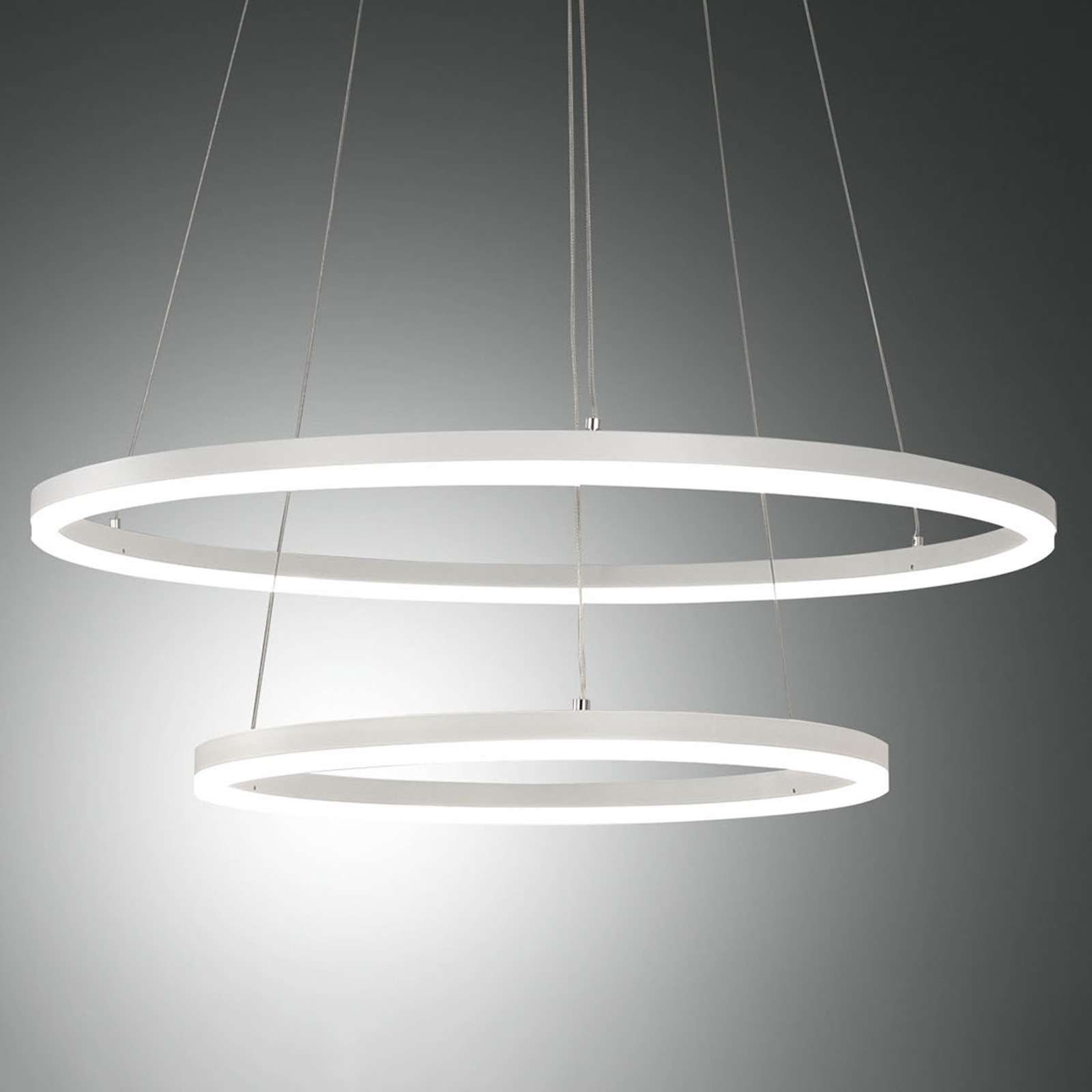 Lampa wisząca LED Giotto, 2-punktowa, biała