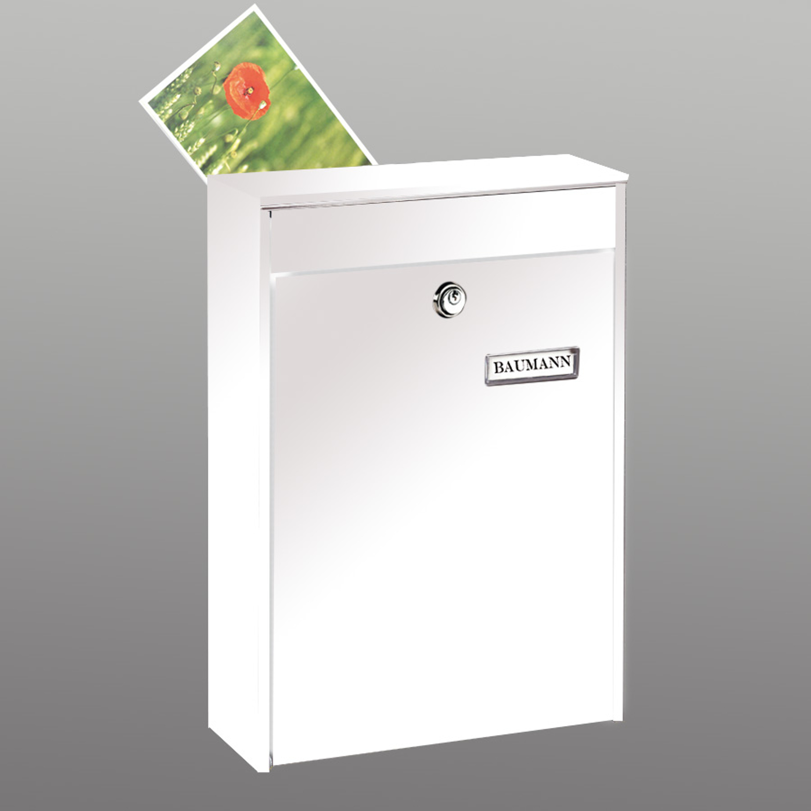 LEIPZIG 778 postkasse i højformat, hvid