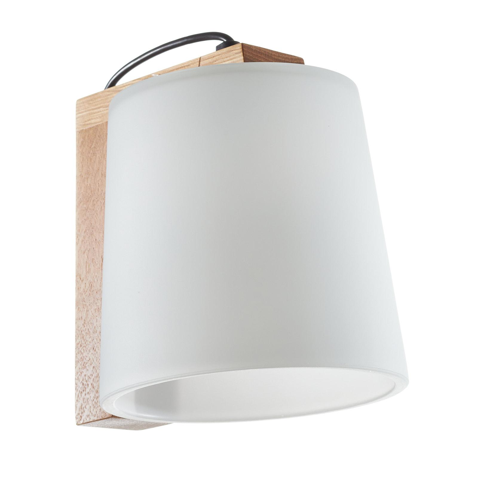 Houten wandlamp Mona
