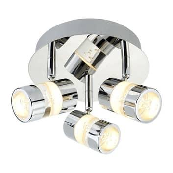 LED plafondlamp Bubbles, IP44, 3-lamps