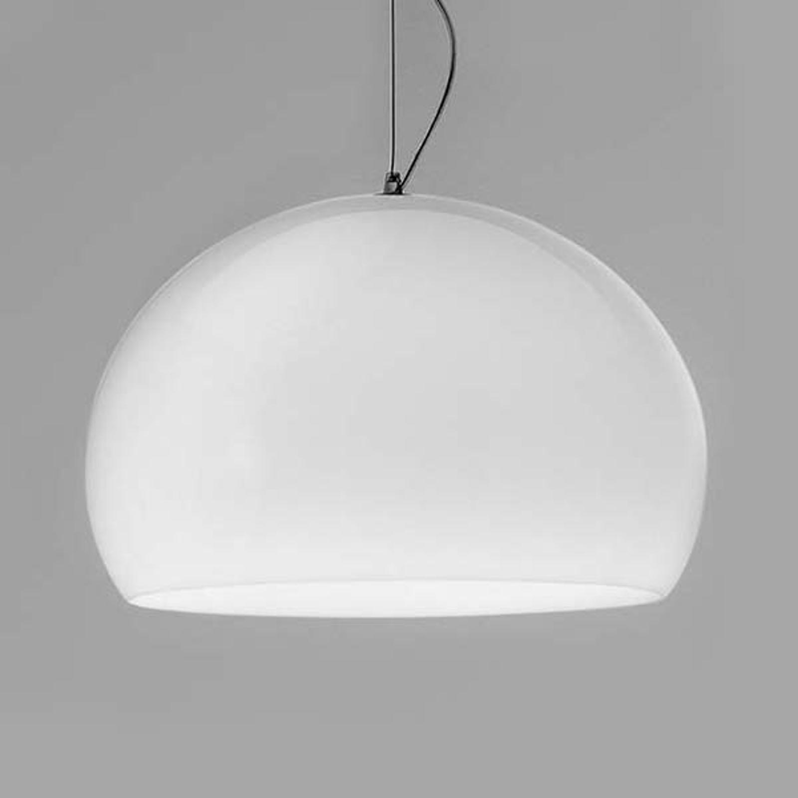 Kartell FL/Y – lampa wisząca LED, biała lśniąca