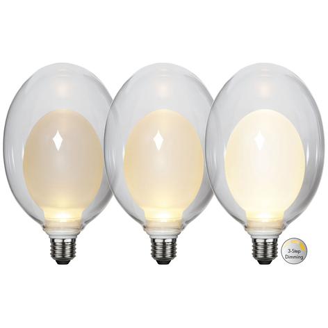 Bombilla LED Space E27 3,5W D120, opal, 3-step dim