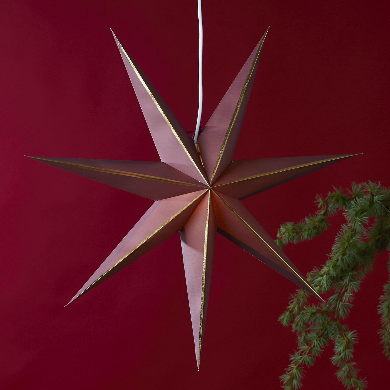 Lysa stjerne af papir rød/guld