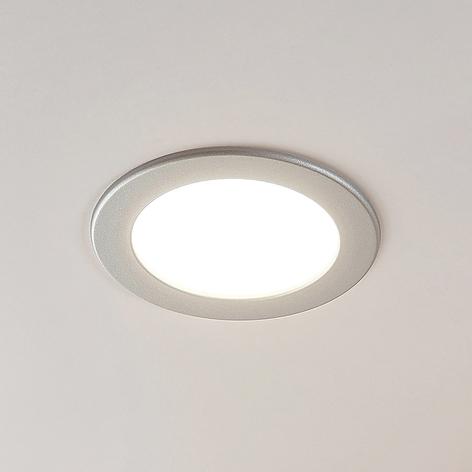Joki LED-indbygningsspot sølv 3000K rund 17cm
