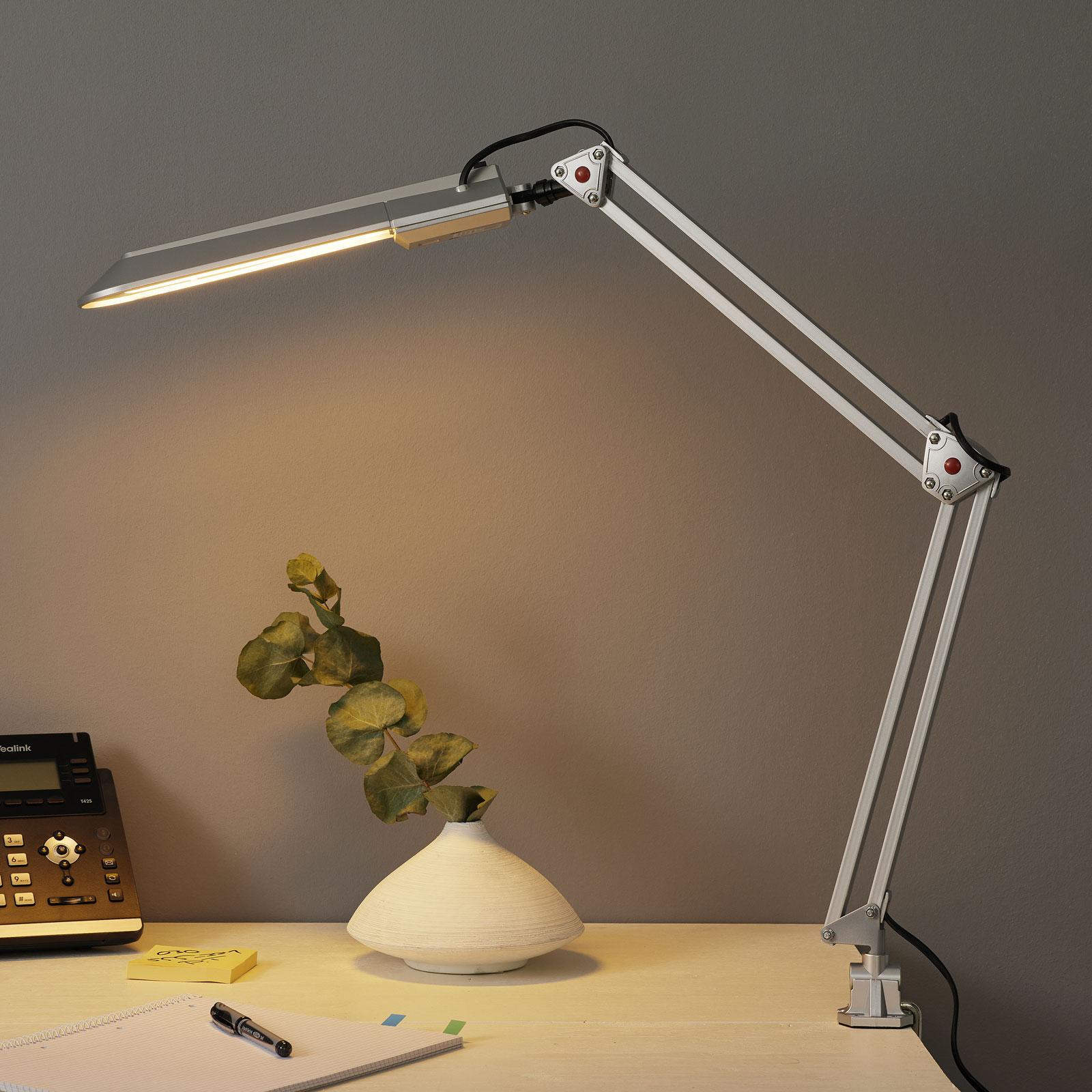 Praktyczna lampa do pracy z zaciskiem stołowym