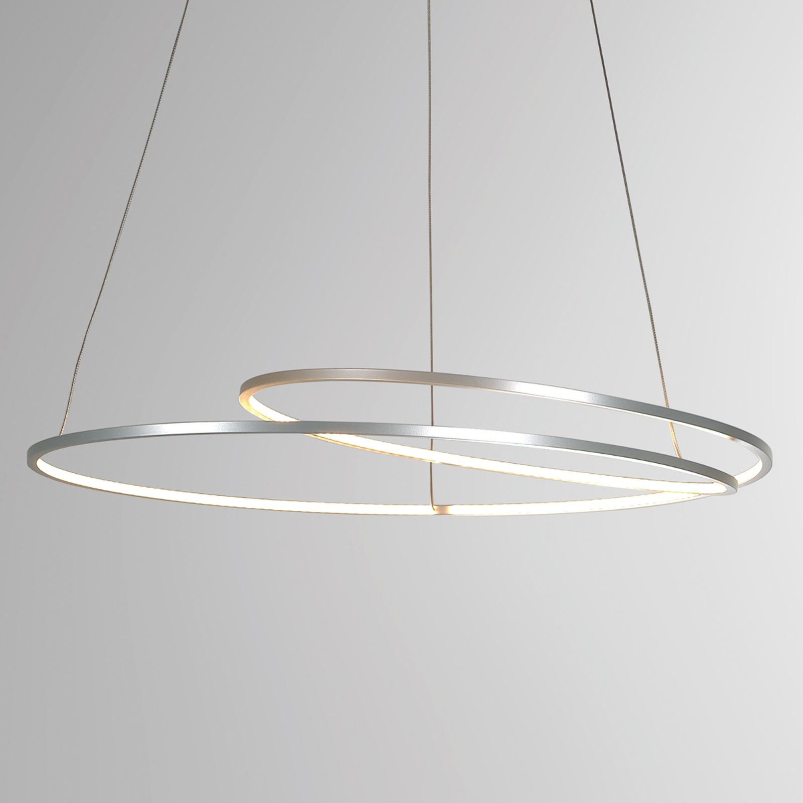 Lámpara colgante LED Arroba afiligranada atenuable