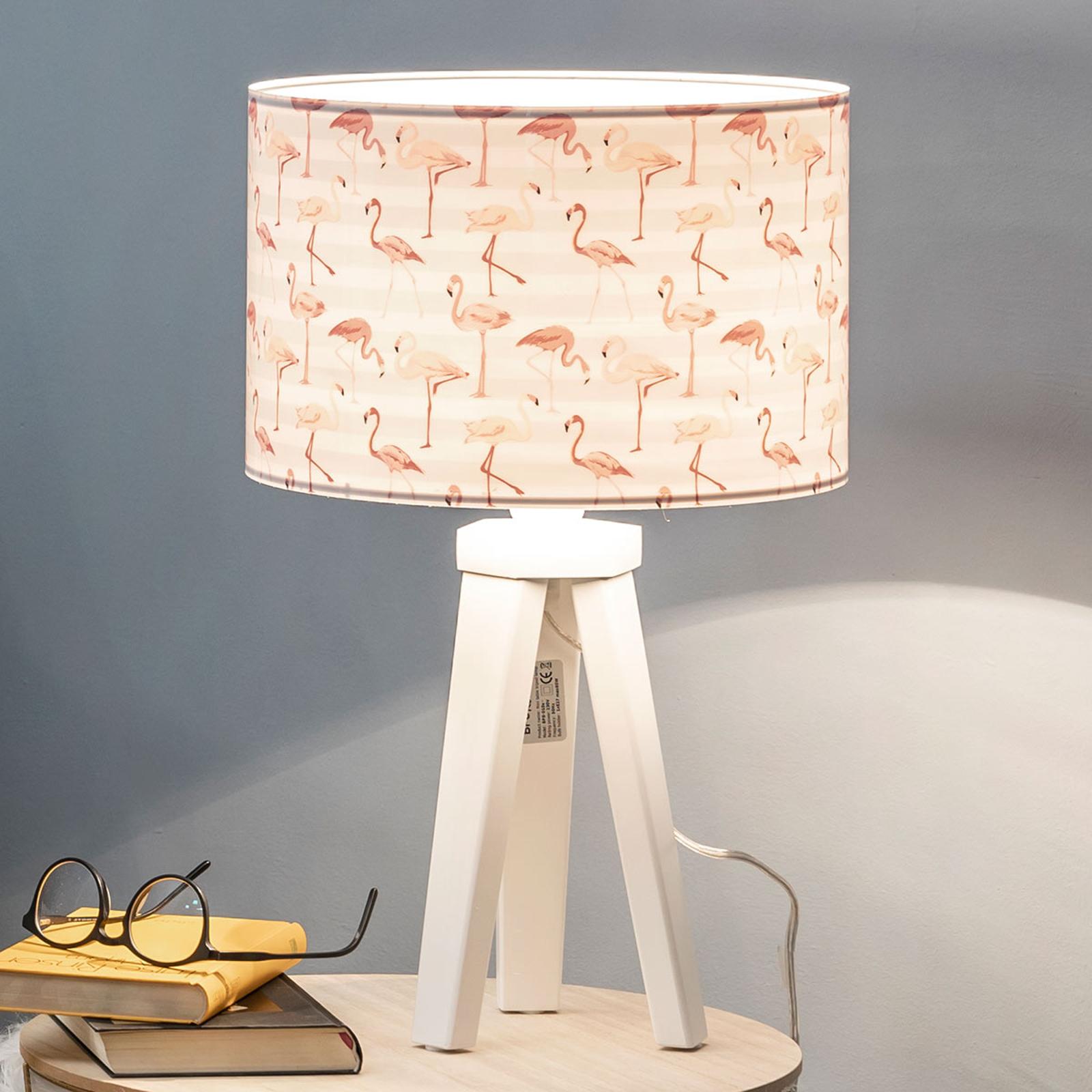 Tafellamp Miami met flamingo-print