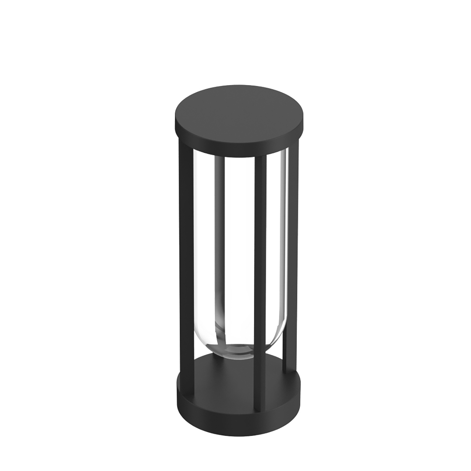 FLOS In Vitro Bollard 1, 2700K, 40 cm, svart