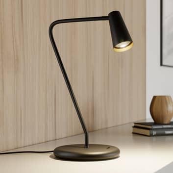 Lucande Angelina lampada da tavolo nero-oro