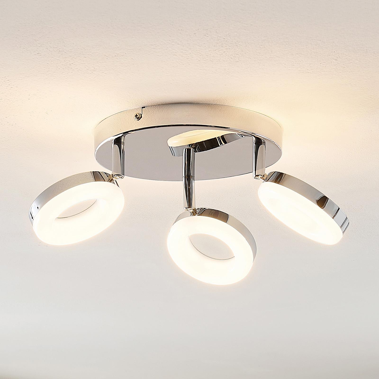 ELC Tioklia LED stropní světlo, chrom, třížár.