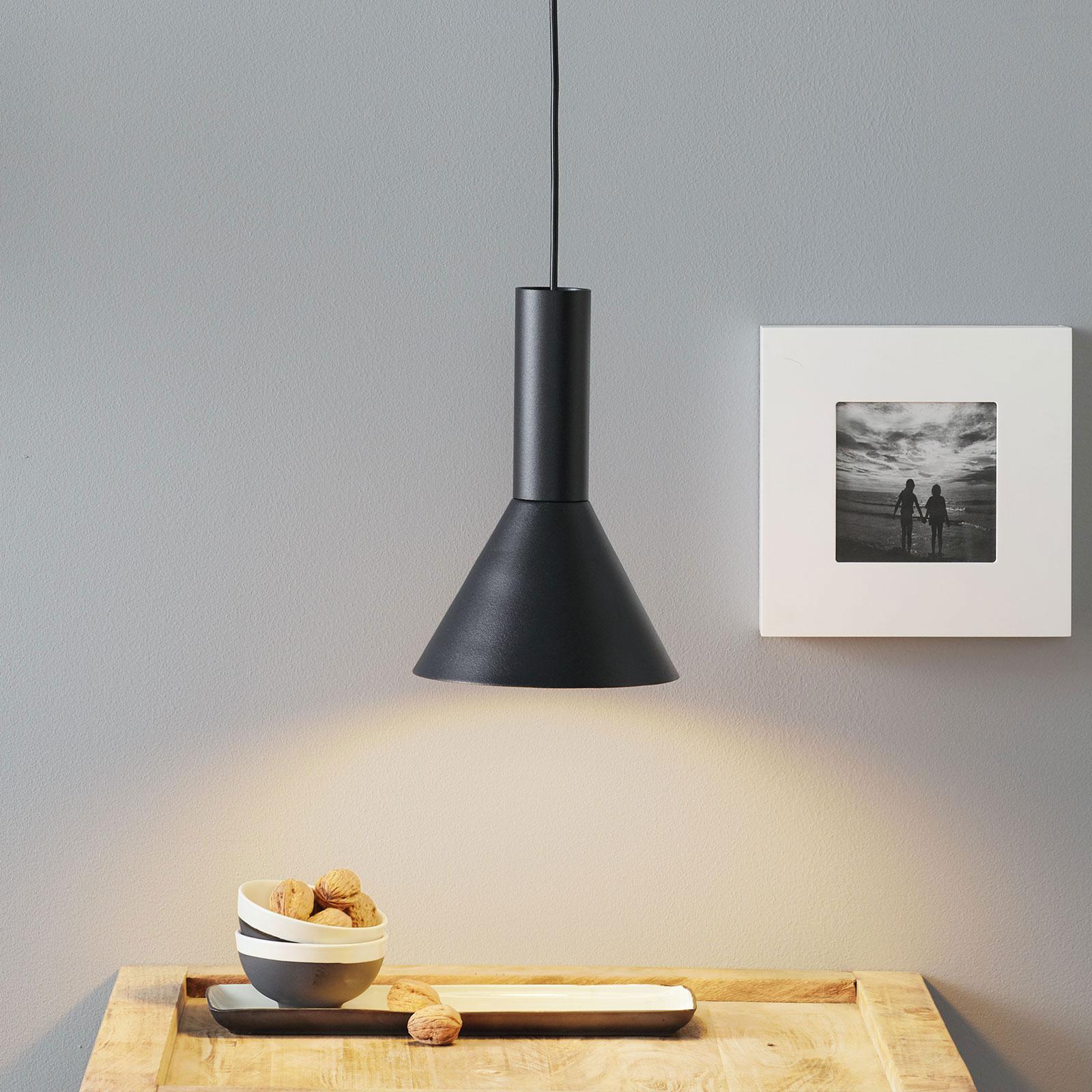 Lucande Caris lampa wisząca Ø19cm czarna/złota