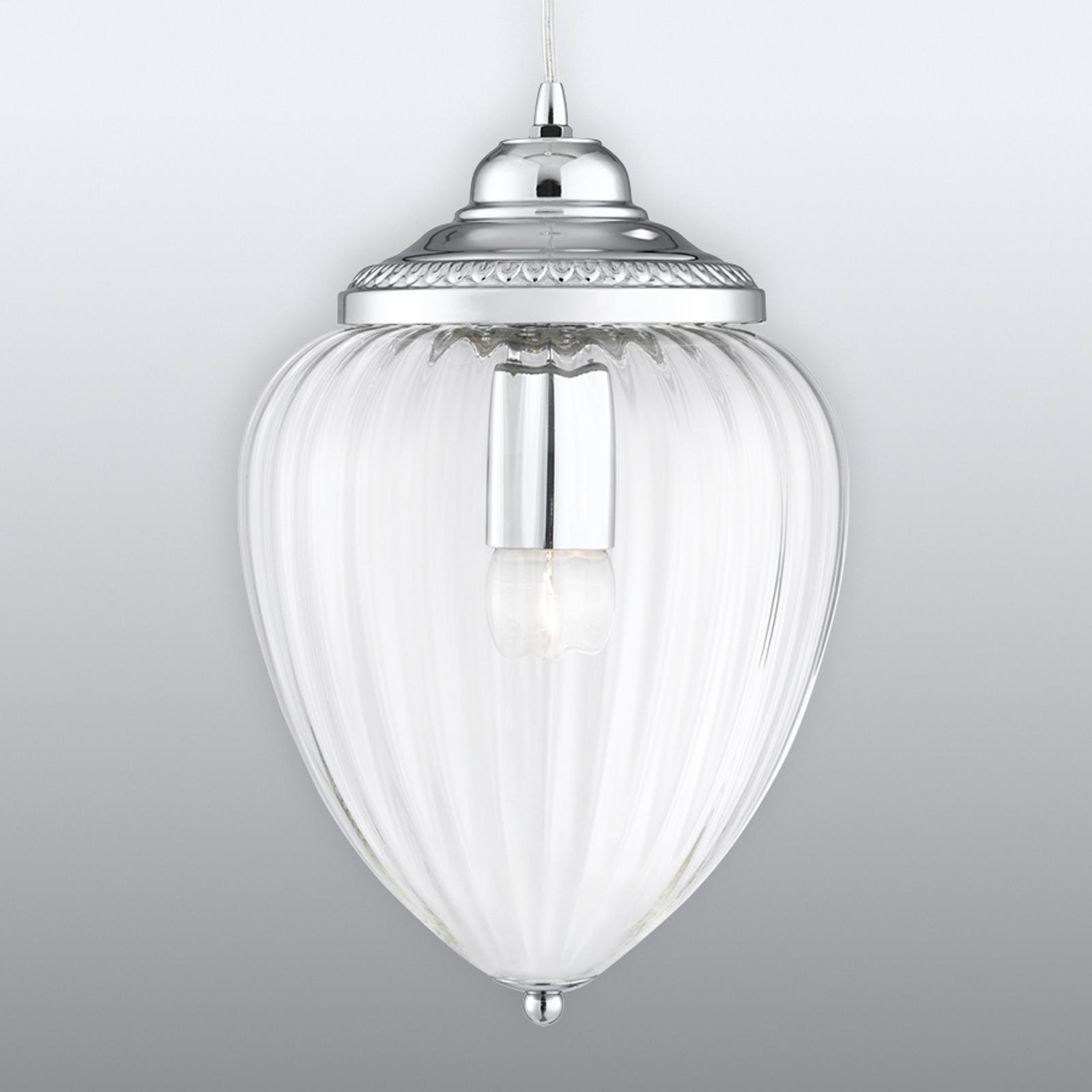 Szklana lampa wisząca Pendants ze żłobieniami