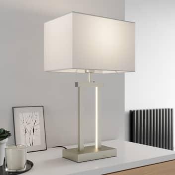 Lámpara de mesa Sigurd con pantalla de tejido