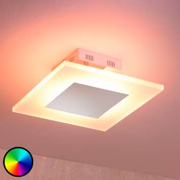 Plafoniera LED Frerk, colore di luce regolabile