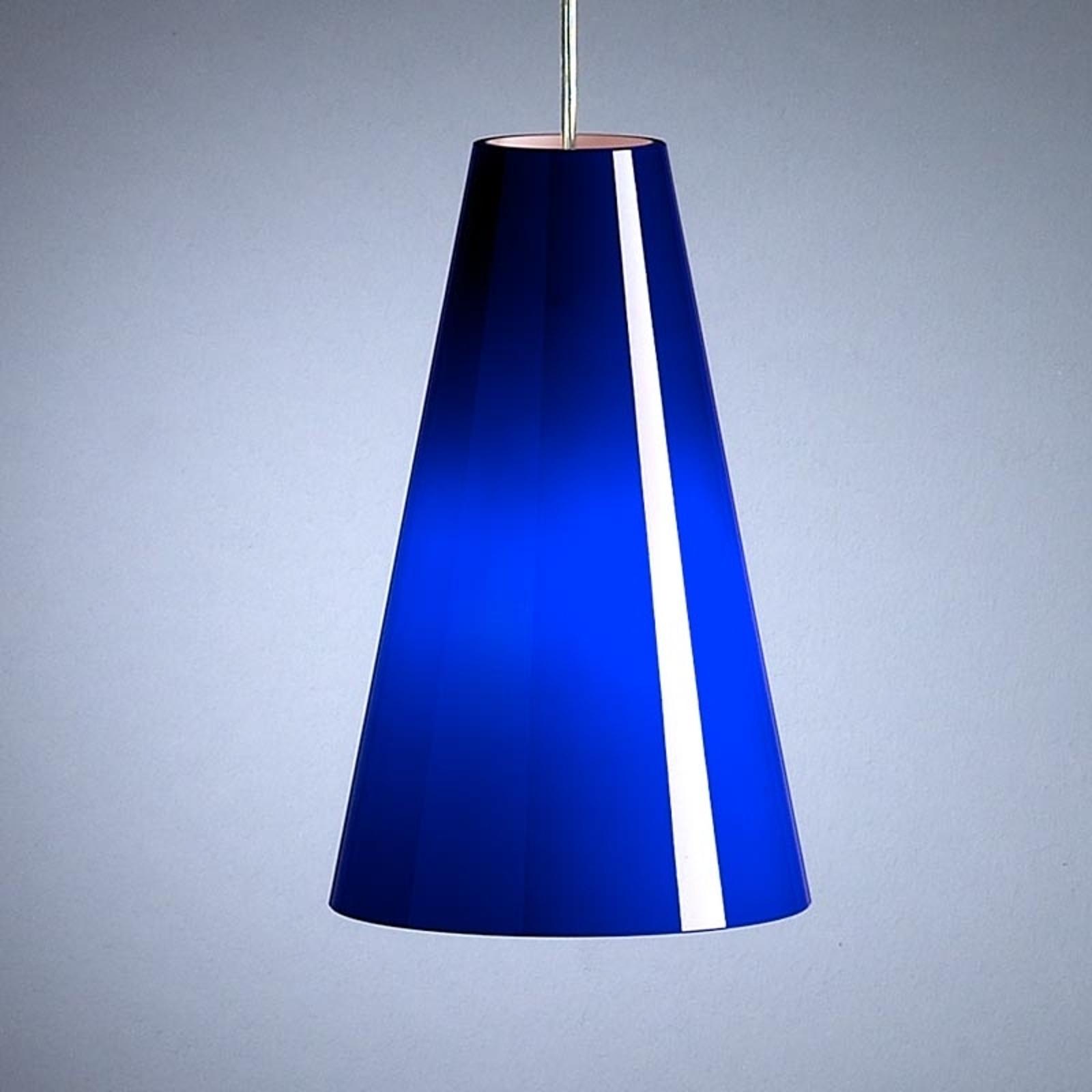 Lampa wisząca Schnepla niebieska