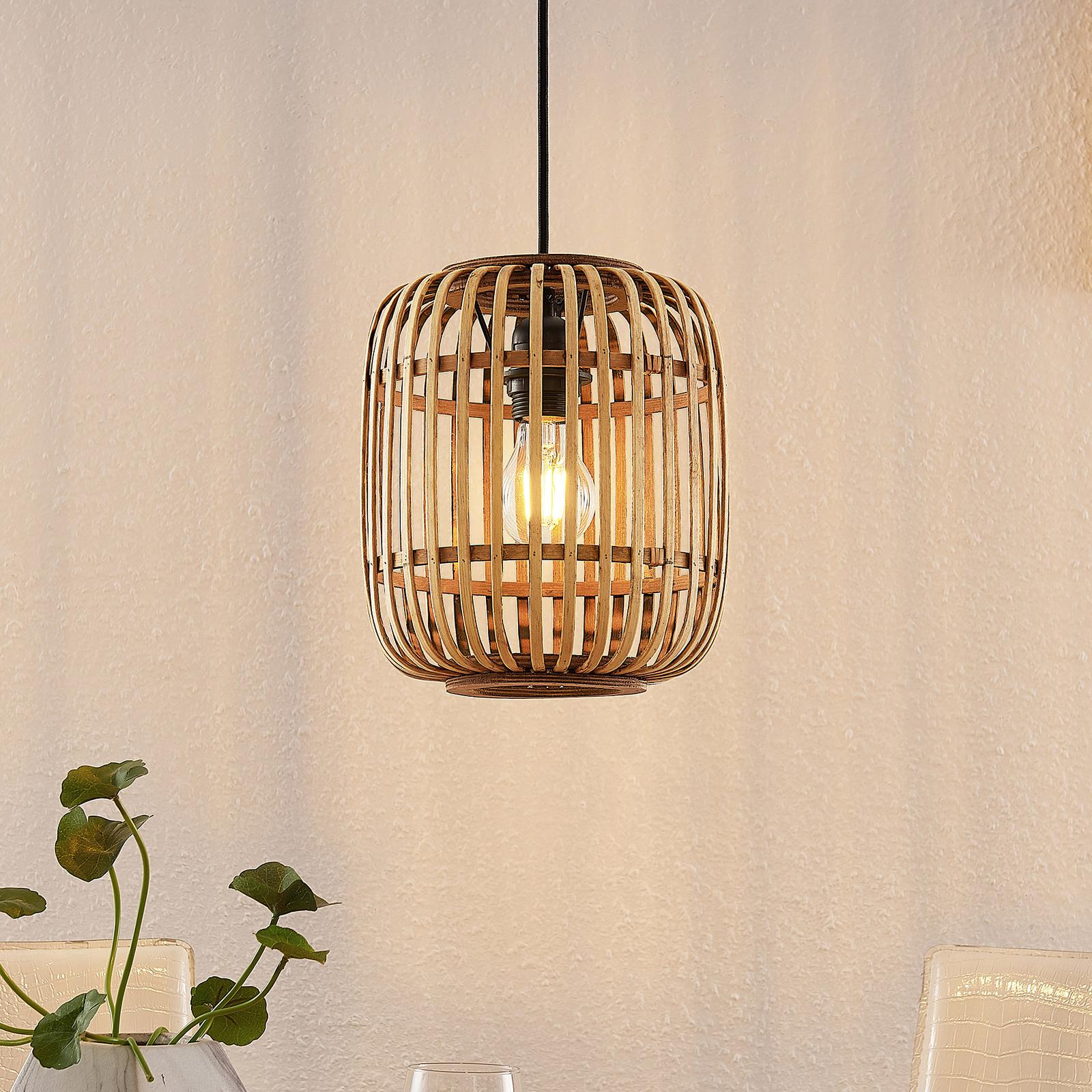Lindby Canyana hængelampe af rattan, natur