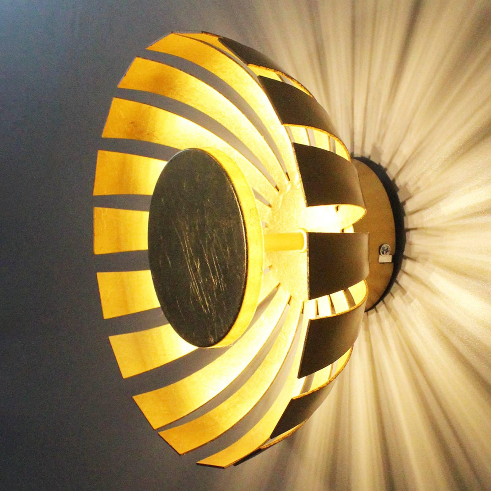 LED wandlamp Flare Medium, goud