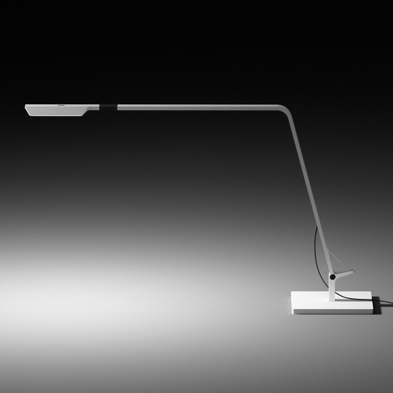 Vibia Flex - dimmbare LED-Tischleuchte weiß matt