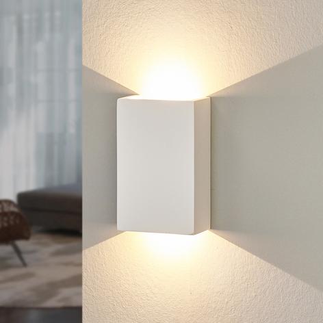 LED-Wandleuchte Fabiola aus Gips, Höhe 16 cm