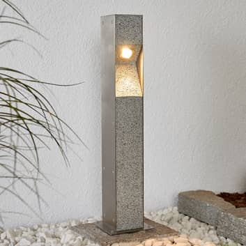 Bolardo LED Amelia con granito, 60 cm